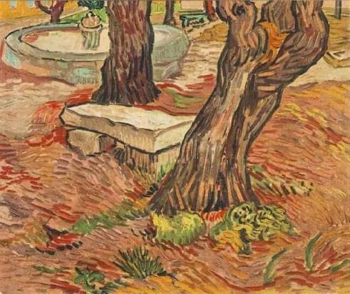 the-stone-bench-in-the-garden-of-saint-paul-hospital-post-impressionism-oil-painting-ab02541
