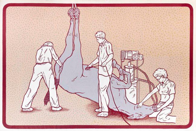 federica-cogo-povera-patria-2011-100-x-150-cm-acrilico-e-olio-su-tela